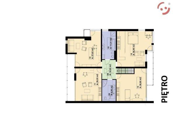 Projekt domu PS-GE-140-20G bliźniak o pow. 330 m2