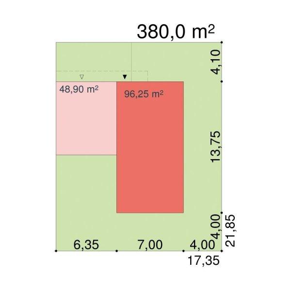 Projekt nowoczesnego domu energooszczędnego NF40-GJ-70-20-2G-V6 pow. 164 m2
