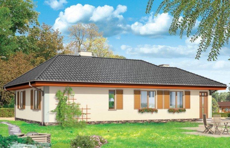 Projekt domu D0V pow.netto 118,02 m2