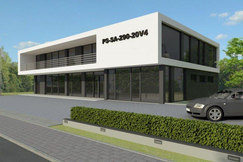 Projekt biurowca PS-SA-290-20V4 pow. 563,19 m2