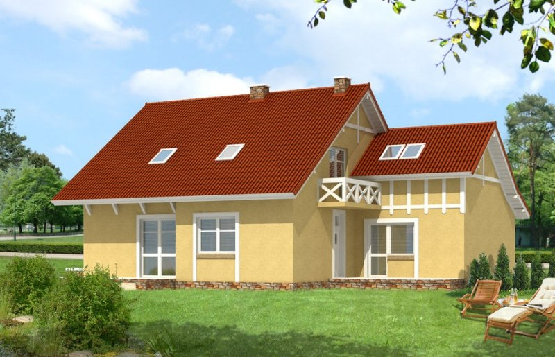 Projekt domu BS-11 z senioratką pow. 184,7 m2