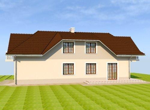 Projekt domu na bardzo wąską działkę Brama Luksoru