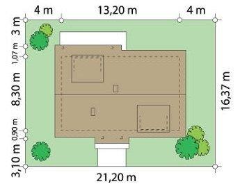 Projekt domu Fraszka pow.netto 154,46 m2