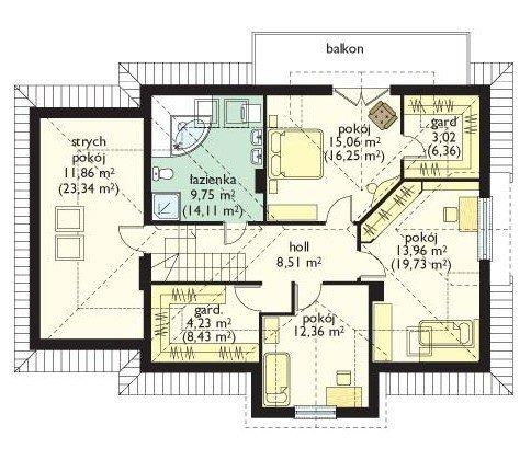 Projekt domu Saga II pow.netto 185,1 m2