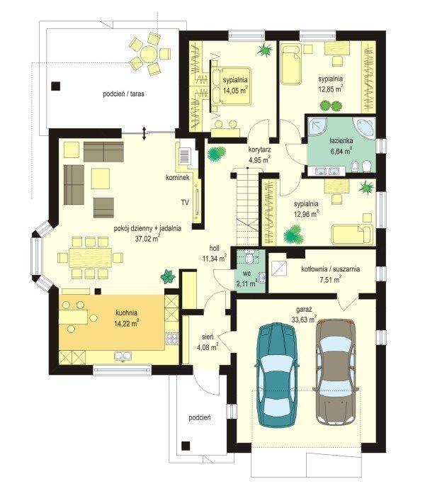 Projekt domu Natalia III pow.netto 127,74 m2