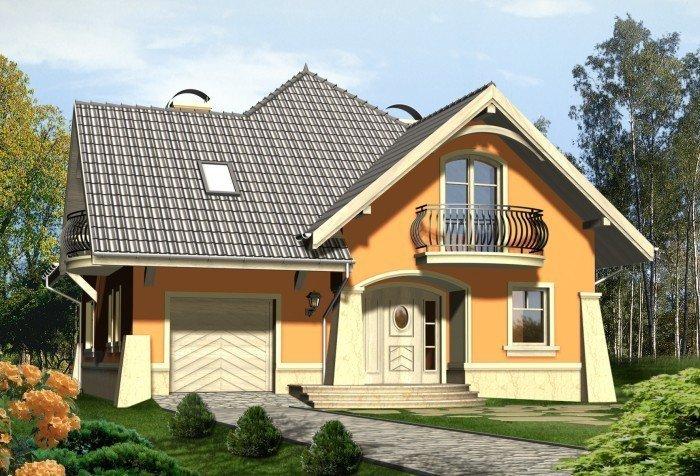 Projekt domu FANTAZJA z garażem 1-stanowiskowym