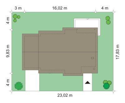 Projekt domu Cypisek III pow.netto 81,75 m2