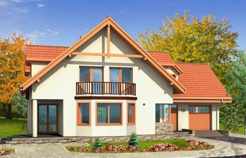 Projekt domu Przestronny pow.netto 208 m2