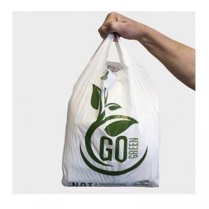 BioBag Torba na zakupy T-shirt 100% kompostowalna 50x30cm, 10sztuk