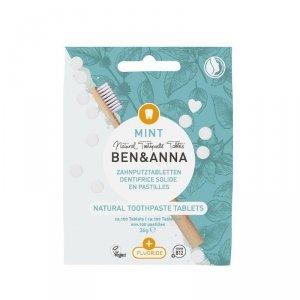 BEN&ANNA Naturalne tabletki do mycia zębów Z FLUOREM 36g