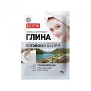 Glinka ałtajska biała - nawilżająca (poprawa kolorytu) dla każdego typu skóry 75g