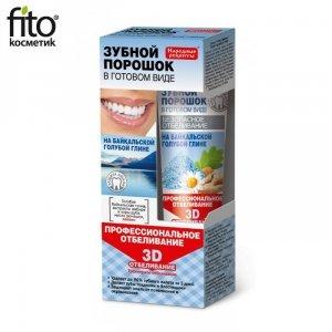 Proszek dentystyczny w postaci pasty Profesjonalne wybielanie 3D na glince bajkalskiej, 45ml - Fitokosmetik