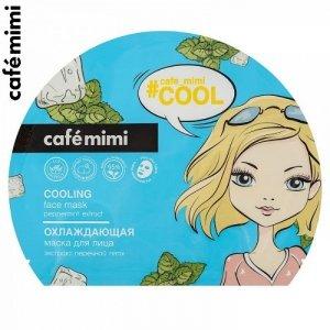 Chłodząca maska w płachcie na twarz - wszystkie typy skóry, 22 g - CAFE MIMI