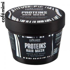 CAFE MIMI Maska z proteinami - do włosów cienkich i łamliwych, 110 ml