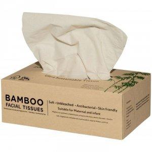 Bambusowe chusteczki 3-warstwowe w kartoniku 100 szt.
