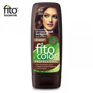 Naturalny balsam KOLORYZUJĄCY do włosów - CIEMNY BRĄZ 5,0 - FITO COLOR