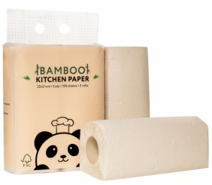 Bambusowy ręcznik kuchenny, 2 warstwy, 2 rolki, Zuzii