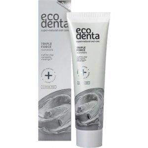 ECODENTA EXPERT LINE Pasta do zębów o potrójnym działaniu z białą glinką, propolisem i TEAVIGO, 75 ml