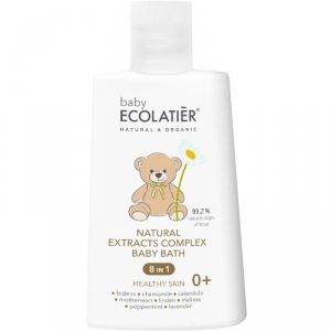 """BABY Naturalny kompleks ekstraktów 8 w 1 """"Zdrowa skóra do kąpieli dzieci w wieku 0+, 250 ml ECOLATIER"""