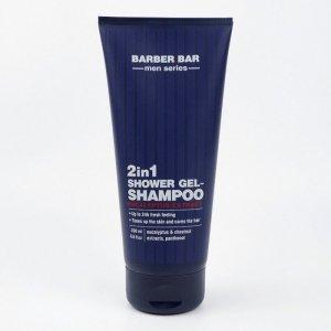 Barber.Bar Żel pod prysznic - Szampon dla Mężczyzn 2w1, 200 ml
