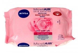 Nivea Micell Air Skin Breathe Chusteczki micelarne z Wodą Różaną  1op.-25szt