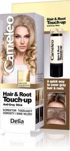 Delia Cosmetics Cameleo Hair&Root Touch-up Korektor tuszujący odrosty i siwe włosy - słoneczny blond  1szt