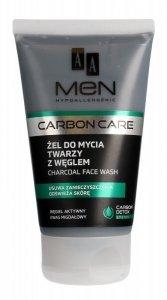 AA Men Carbon Care Żel do mycia twarzy z węglem  150ml