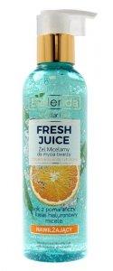 Bielenda Fresh Juice Żel micelarny nawilżający z wodą cytrusową Pomarańcza 190g