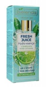 Bielenda Fresh Juice Hydro-esencja detoksykująca z wodą cytrusową Limonka 110ml