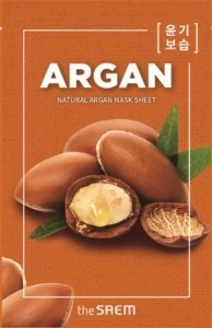 The SAEM Natural Mask Sheet Maska na tkaninie Argan  21ml