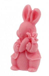 LaQ Mydełko glicerynowe Królik z marchewką - różowy  30g