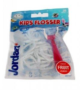 Jordan Kids Flosser Nici dentystyczne dla dzieci 5+  1op.-36szt