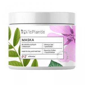 Vis Plantis Vegan Friendly Maska do włosów suchych i matowych -Lukrecja,Lipa i Prawoślaz  400ml