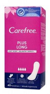 Carefree Plus Long Wkładki higieniczne Light Scent - delikatny zapach 1op.-40szt