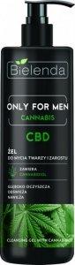 Bielenda Only for Men Cannabis CBD Żel do mycia twarzy i zarostu 190g