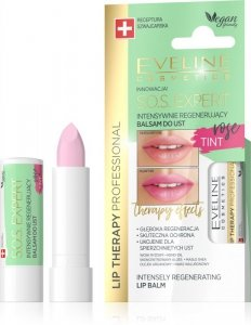 Eveline Lip Therapy S.O.S. Expert Intensywnie regenerujący balsam do ust Tint Rose  1szt