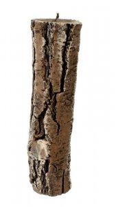 ARTMAN Świeca ozdobna Pniak - długi brązowy 1szt