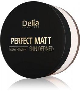 Delia Cosmetics Skin Defined Puder sypki Perfect Matt nr 42 Transparent 20g