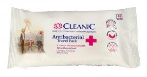 Cleanic Chusteczki odświeżające Antibacterial Travel Pack 1op.-40szt
