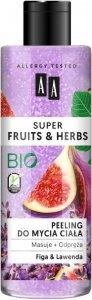 AA Super Fruits & Herbs Peeling do mycia ciała Figa i Lawenda  200ml