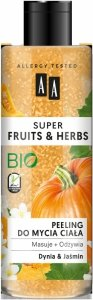 AA Super Fruits & Herbs Peeling do mycia ciała Dynia i Jaśmin  200ml