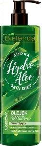 Bielenda Super Skin Diet Hydro Aloe Olejek do kąpieli i pod prysznic nawilżający 400ml