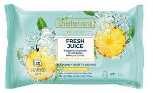 Bielenda Fresh Juice Chusteczki micelarne z wodą cytrusową Ananas 1op.-20szt