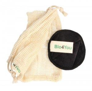 Bio4You Wielorazowe Płatki kosmetyczne bambusowe do demakijażu  1op.-12szt.