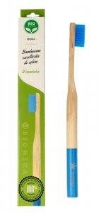 Biomika Szczoteczka do zębów bambusowa miękka - niebieskie włosie  1szt