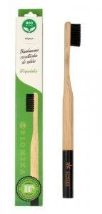 Biomika Szczoteczka do zębów bambusowa miękka - czarne włosie  1szt