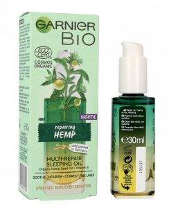 Garnier BIO Multi-naprawczy Olejek do twarzy na noc Reparing Hemp  30ml