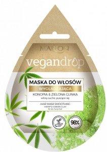 Marion Vegan Drop Maska do włosów wygładzająca Konopia & Zielona Glinka  20ml