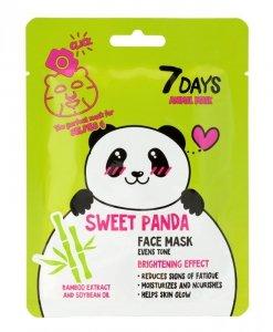 VILENTA 7 Days Animal Maska na twarz w płacie rozświetlająca Sweet Panda 28g