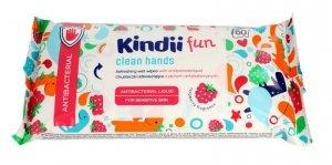 Kindii Fun Chusteczki odświeżające dla dzieci z płynem antybakteryjnym  1op.-60szt